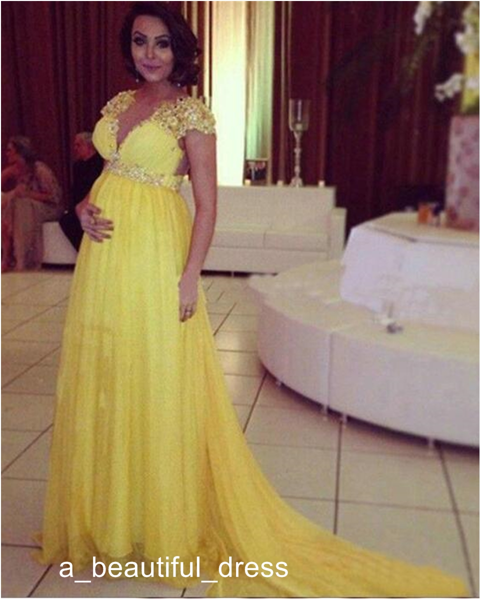 sexy lange abendkleider für schwangere online großhandel