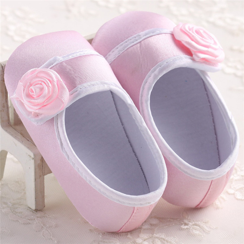 Baby Girls Shoes Fashion Newborn Infant Baby Girls Solid Flower Shoes Soft Sole Anti-slip Shoes Baby First Walker Shoes M8Y14 (11)