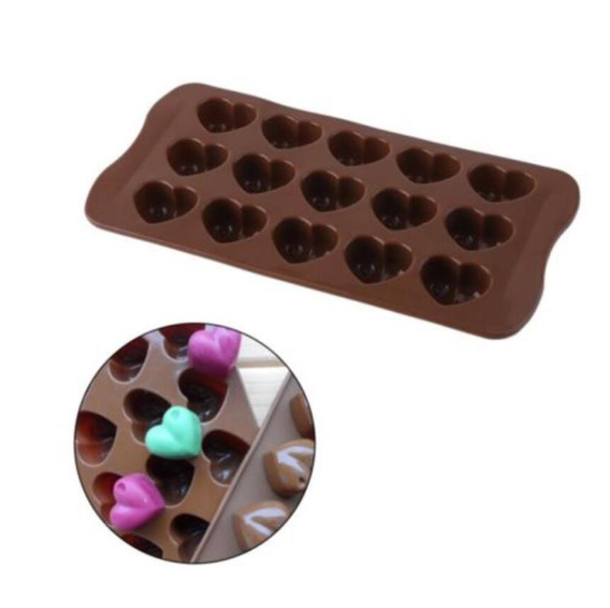 55/cavidad coraz/ón silicona moldes para hornear moldes para jabones//pasteles//galletas//Candy Color al azar 1/pc