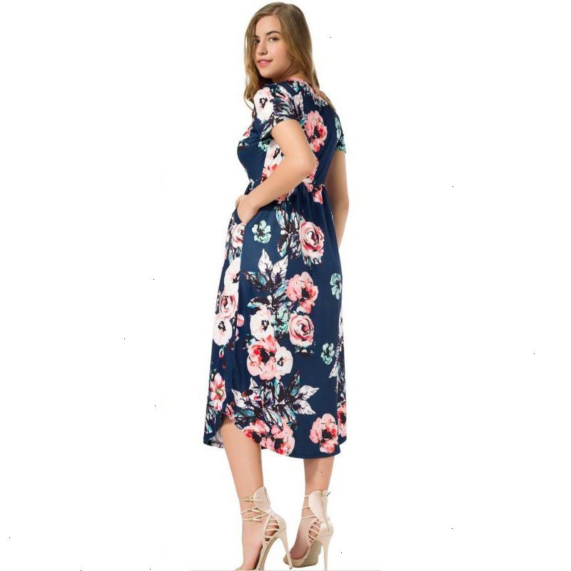 Boho-Floral-Printed-Dresses-Women-Pleated-Mid-Calf-Dress-2019-Summer-Bohemia-Female-Short-Sleeve-Dress