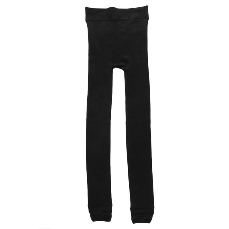 2 PACK  WOMENS LADIES WINTER WARM THICK FLEECE LINING THERMAL STRETCH BLACK
