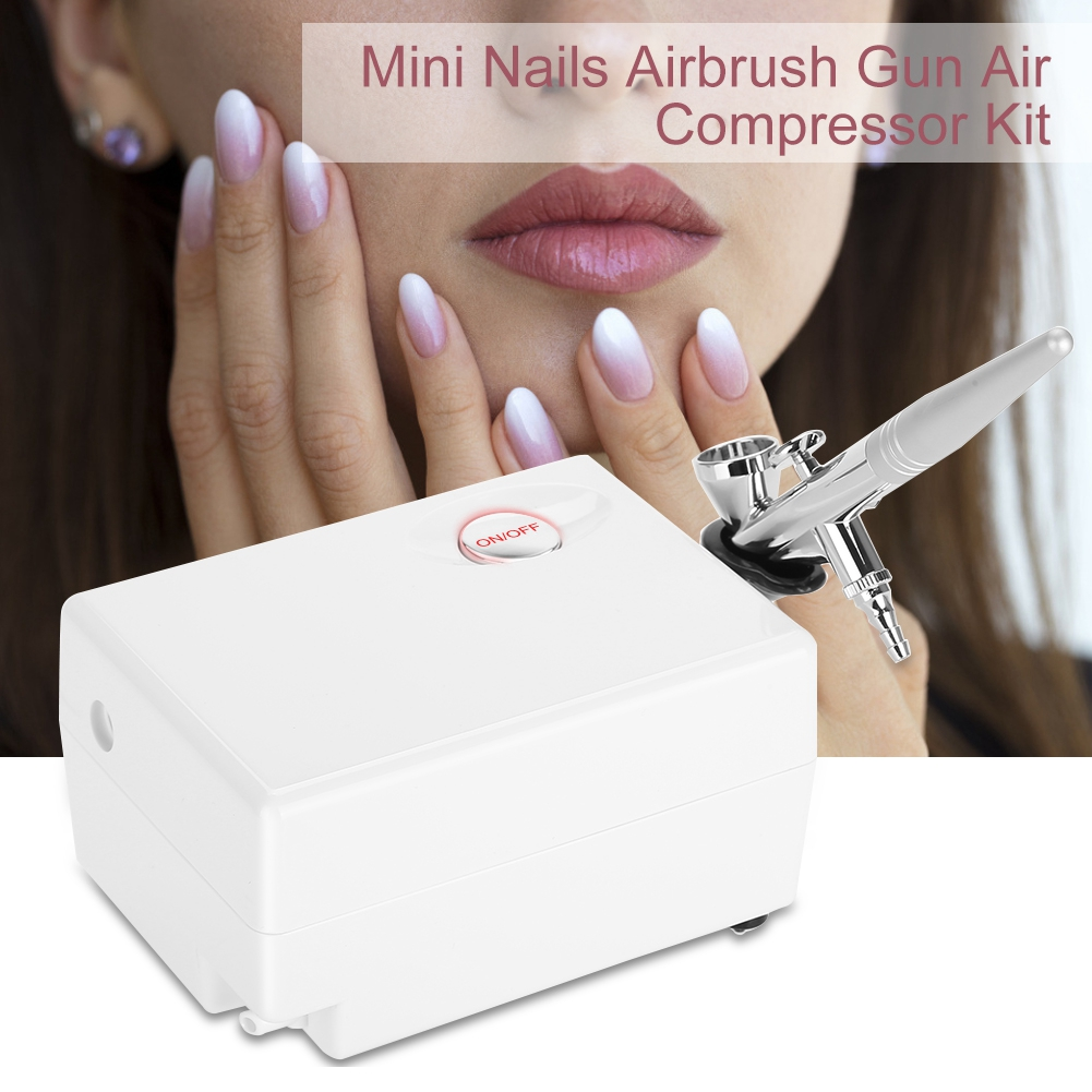 Mini Nägel Airbrush Gun Luftkompressor Kit Air-Brush Nail Art Malerei Für Kunst Auto Modell Tattoo Nägel Werkzeuge Set