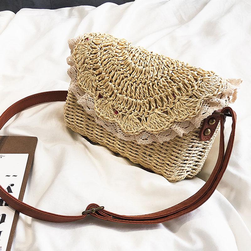 Women Lace Straw Bags INS Popular Female Holiday Handbag Summer Hot Lady Weave Shoulder Bag Travel Beach Casual Bolsa SS3150 (9)