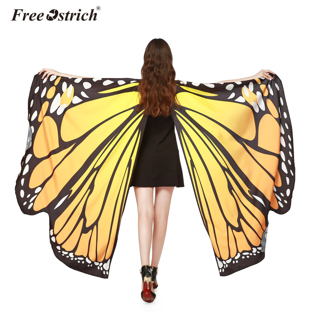 076473d70d650 Wholesale 2019 Women Pashmina Soft Fabric Female Butterfly Wings Shawl  Scarves Ladies Nymph Poncho Costume Accessory B1140 Headscarves Pashmina  Shawls ...