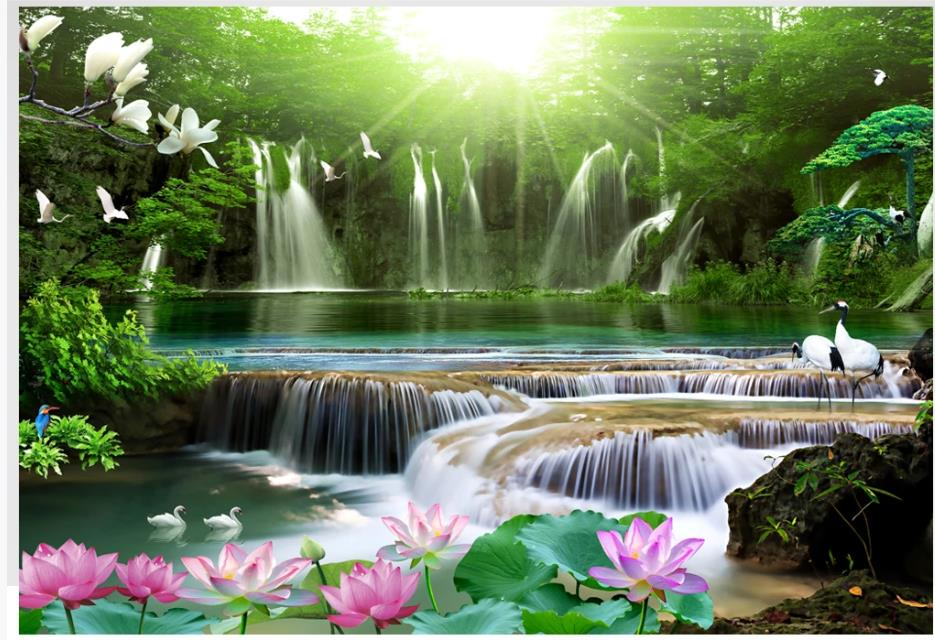 Wholesale Waterfall Wallpaper Buy Cheap In Bulk From China Suppliers With Coupon Dhgate Com