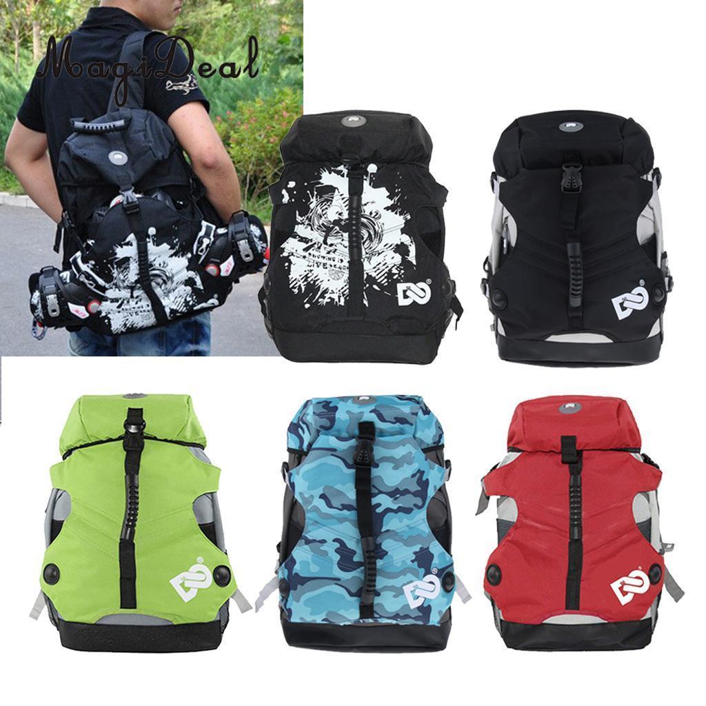 Sports Skate Bag Roller Inline Skates Backpack Quad Roller Skate Bag Skates Storage Pouch Carry Rucksack