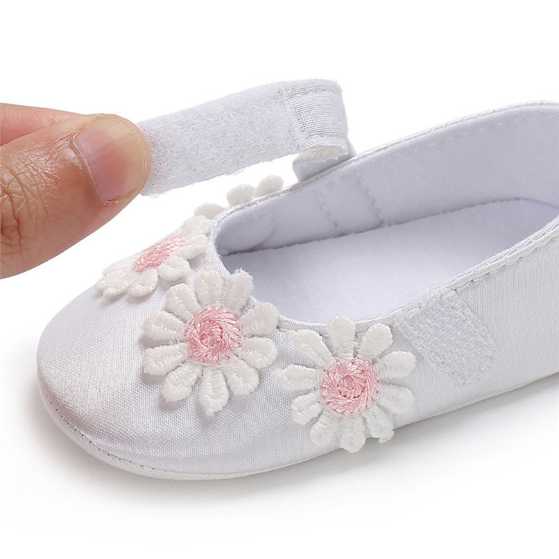 3 Color Baby Girls Shoes Toddler Newborn Infant Kids Baby Girl Flowers Soft Sole Anti-slip Shoes Baby First Walker Shoes M8Y23 (21)