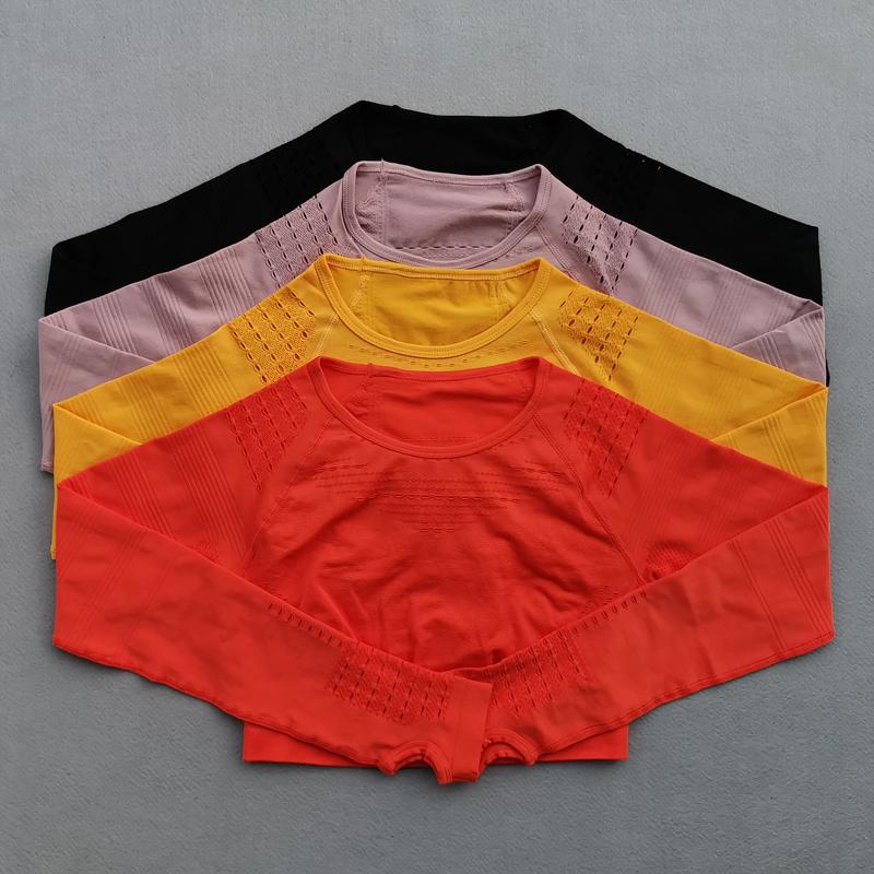 Women-Seamless-Yoga-Set-Gym-Workout-Clothes-Long-Sleeve-Fitness-Crop-Top-High-Waist-Scrunch-Butt (1)