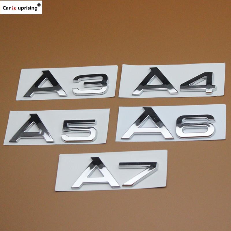 Noir Brillant Set Avant Arrière Grille Badge Anneaux Logo Emblème Audi A3 A4 A5 A6 SLINE
