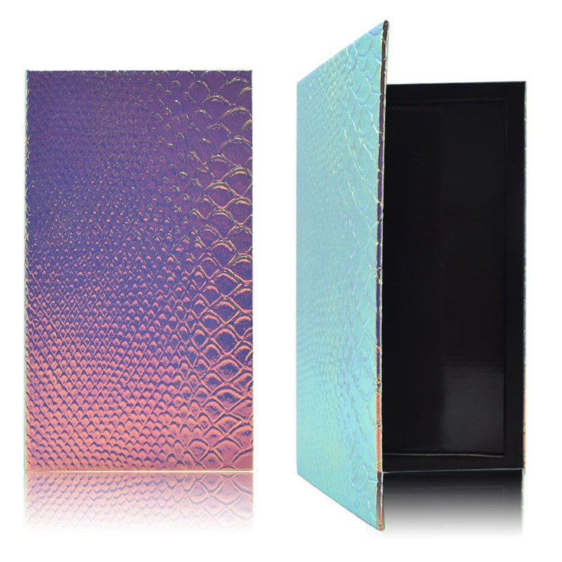 DIY Makeup Palette Box 7*3.9*0.39 Inch Fish-Scale Pattern Refill Palette Empty Magnetic Face Eyeshadow Blush Lipstick Powder Foundation Case