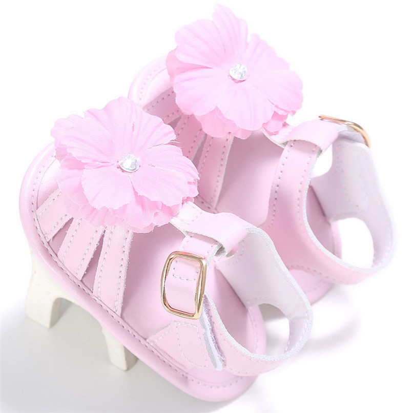 4 Color Summer Baby Shoes Toddler Girl Crib Shoes Newborn Flower Soft Sole Anti-slip First Walker NDA84L24 (13)