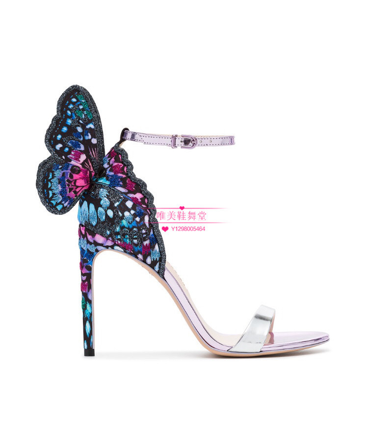 Fairy2019 Webster Sophia Xiamaoding Embroidery Butterfly Wing High-heeled Fine With Sandals Banquet Wedding Shoes