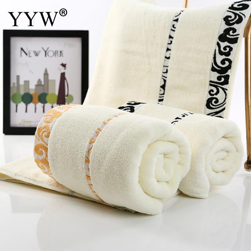 Suave Toalla de secado rápido del baño toallas de algodón absorbente de microfibra absorbente toalla de playa Toallas Textiles para el hogar toalha de banho Toalla