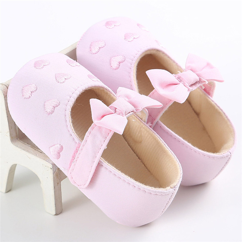Summer Baby Girls Shoes Toddler Kids Baby Girl Canvas Solid Bow-knot Soft Sole Anti-slip Shoes Baby First Walker Shoes M8Y11 (22)