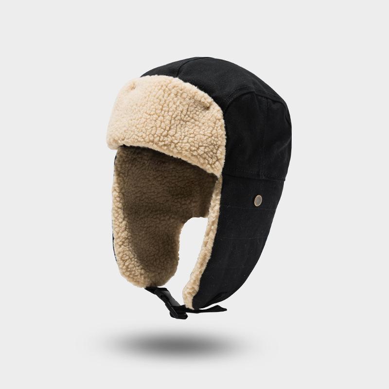 Brown 3 Pieces Pilot Hat Fleece Warm Cap with Earmuffs Soft Warm Winter Cap Cute Costume Hat for Kids