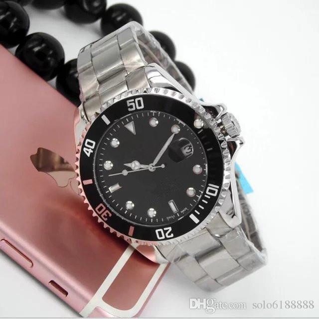 2019 Luxus New 3A Gent GMT II 2 Quarz Selbst Wind Uhren Edelstahl Dive Weiß Schwarz Silber Master 44mm Herrenuhr