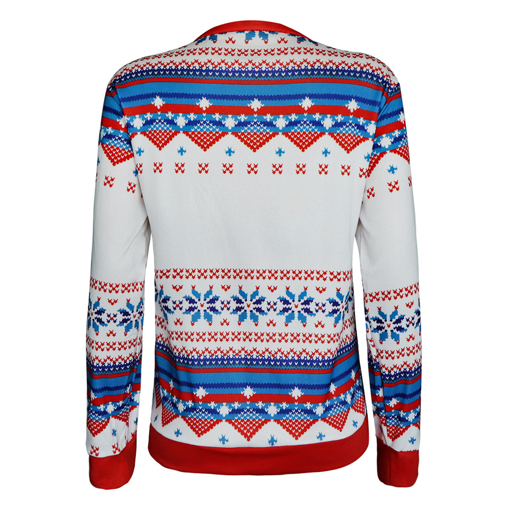 JAYCOSIA Plus Size Jumper Sweaters New Xmas Patterned Christmas Sweaters Tops For Women Tops Slim Fit Pullover 1016