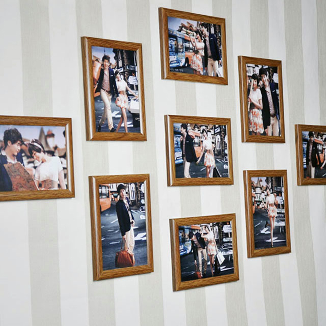 Frame Set 7-inches Creative Wedding Series Family Photo Frames For Picture Wall Decor 2018 C19041701