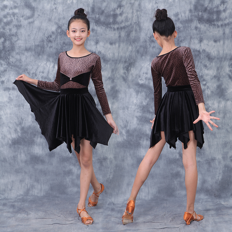 Latin Rhythm Cha Cha Practice Dress Backless Dance Party Performance Salsa Dress
