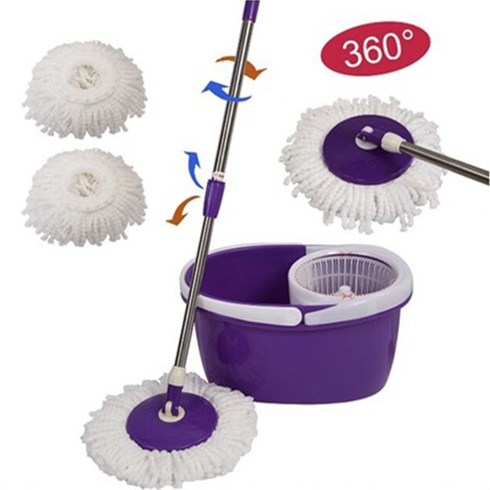 Replacement 360 Rotating Easy Magic Microfiber Spinning Head For Housekeeper Home Floor Cleaning Mop C19041701