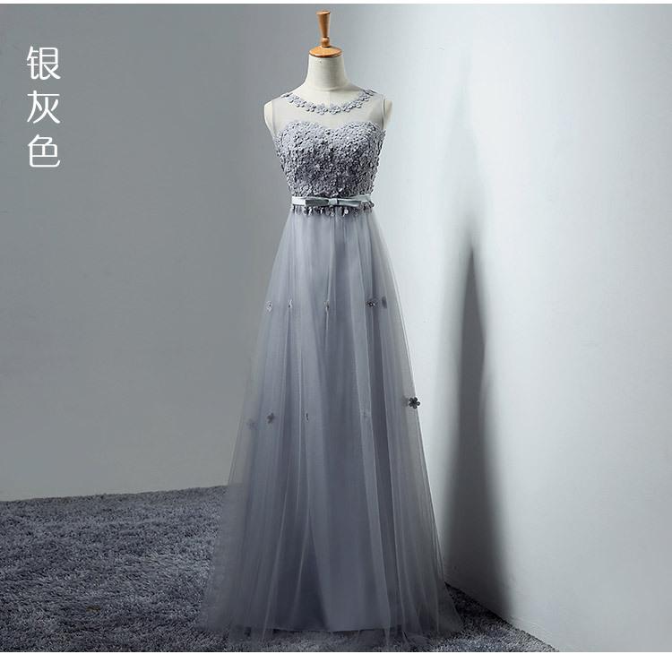Robe complète demoiselle d'honneur servir banquet une épaule robe complète mariée mince toast servir longue fonds robe complète