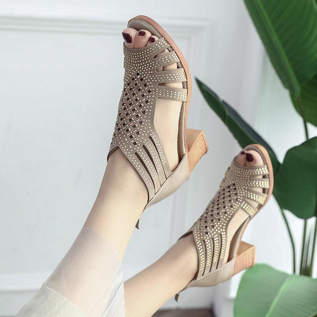 Sagace Sandals Spring Summer Ladies Women Wedge Sandals Fashion Fish Mouth Hollow Roma Shoes Lady Shoes Platform Black 10.dec.11 Y19070503