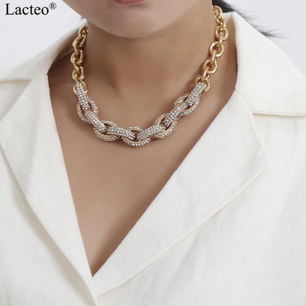2019 Hot Luxe Géométrique Brillant Cristal Long Lien Chaîne Collier Pour Femmes//Lady