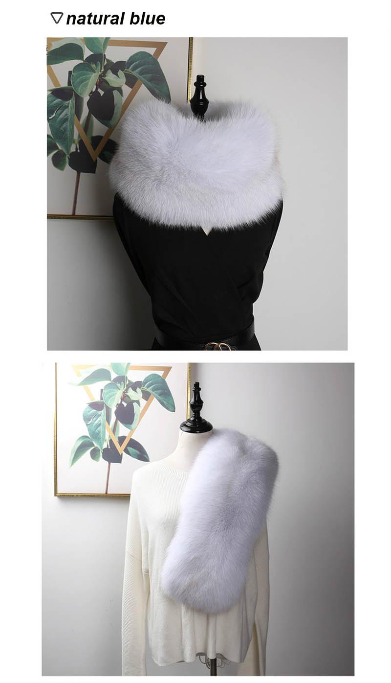 fox fur scarf silver fox 9