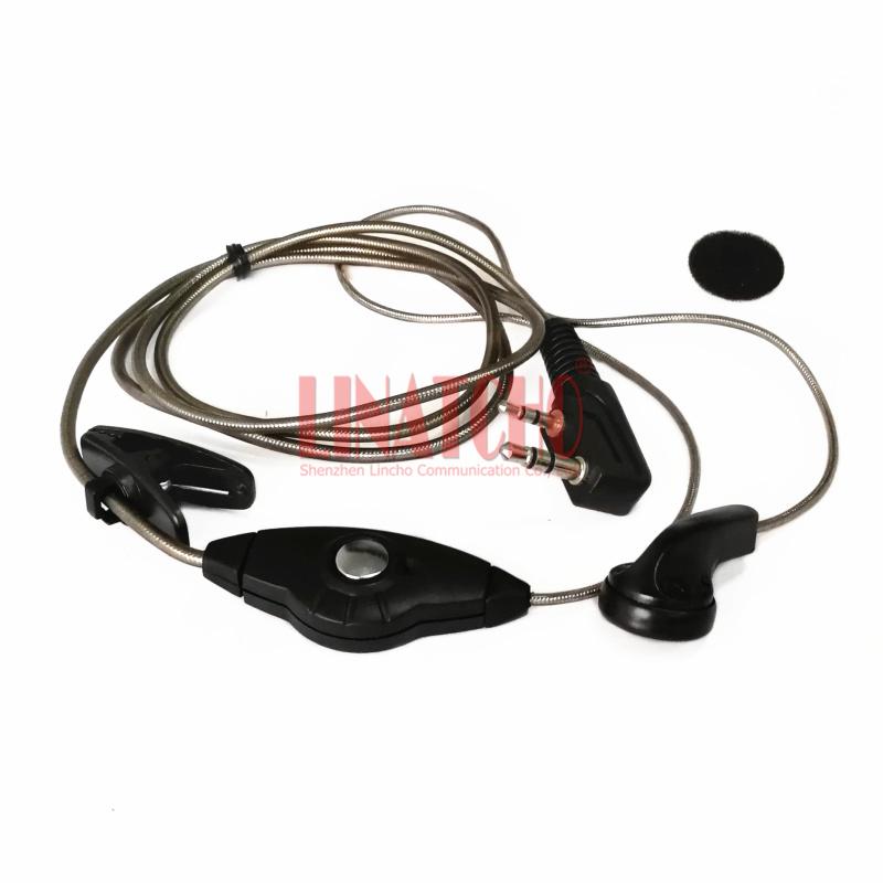 10xD-Shape Retevis K-316 2Pin PPT Mic Ear Hook Earpiece Headset For Kenwood US
