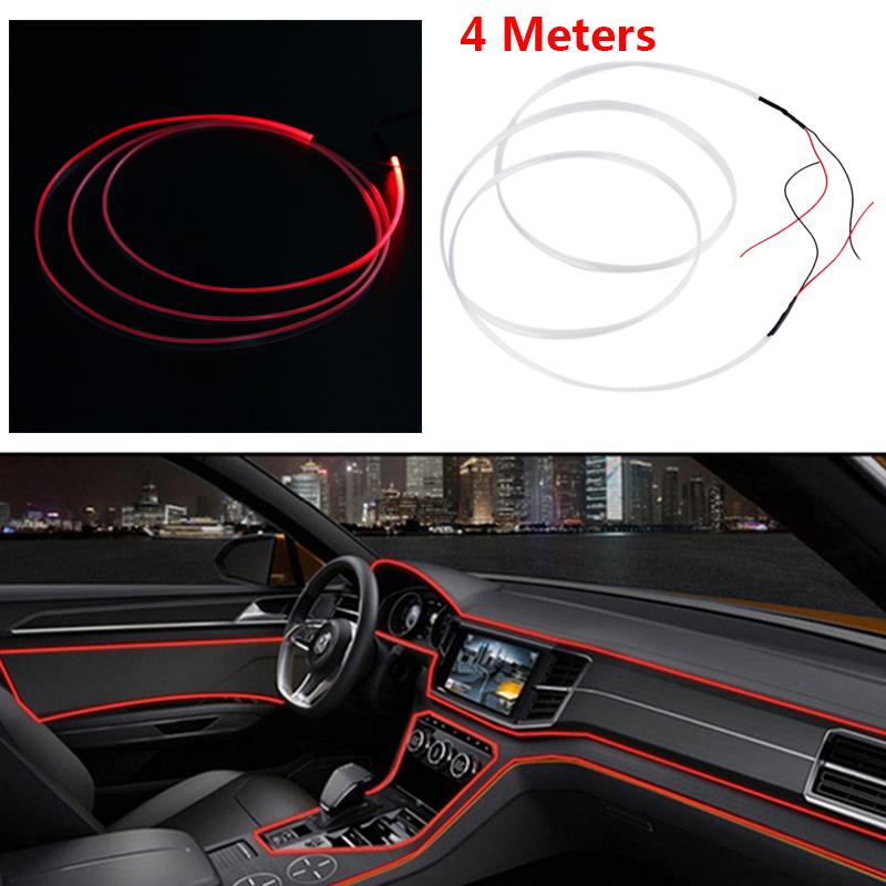 Interior de coche Luces de fibra óptica Lámparas Decorativas Tablero Trim moldeo Tiras de led