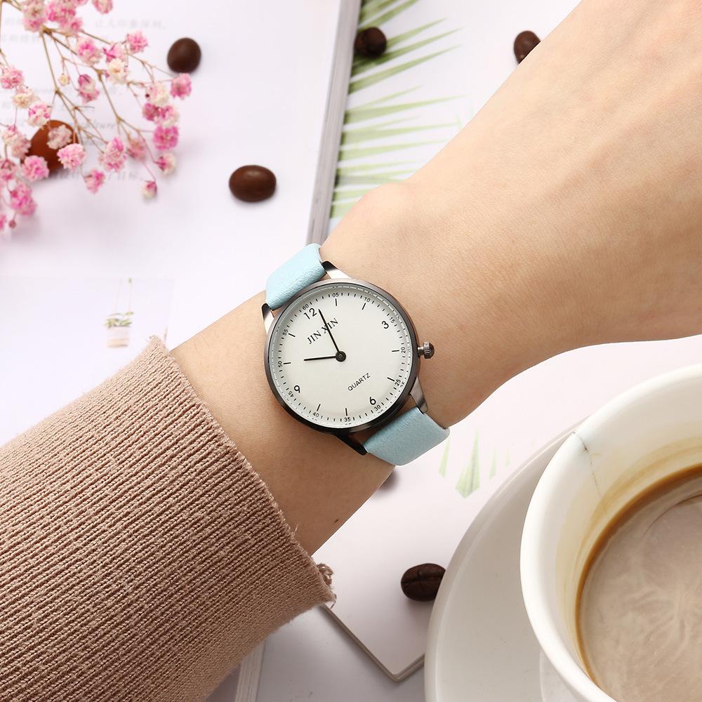 Orologio da polso creativo WATCH QUARTZ a due aghi da personalità della nuova studentessa il tempo libero