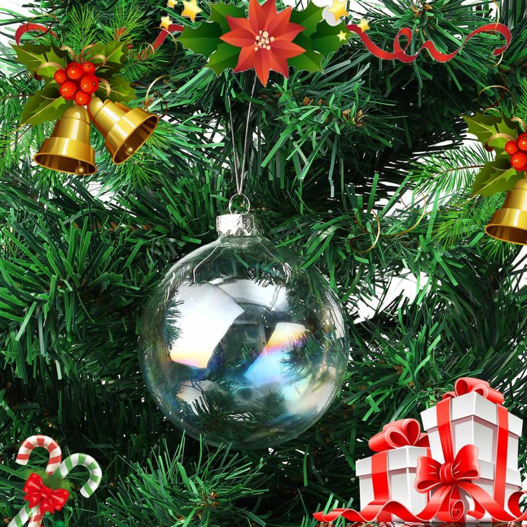 Décoration Arbre de Noël Babiole Décoration Porcelaine Icicle clair Pack de 12