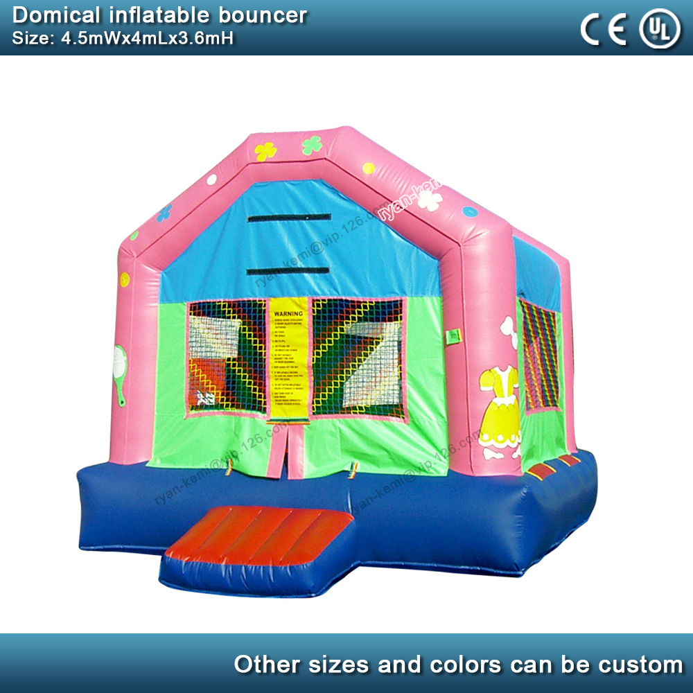 Domical inflatable bouncer commercial inflatable castle kids bounce house party yard inflatable with blower 4