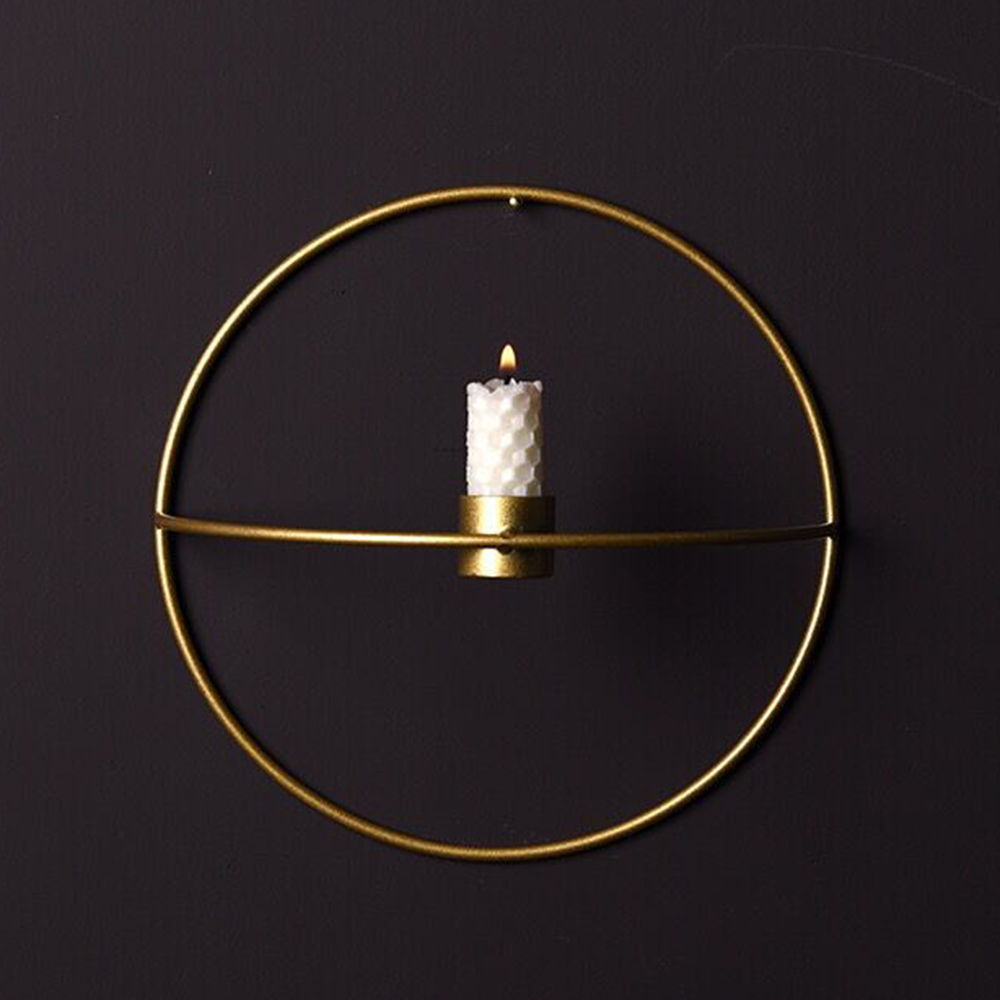 Nordic Style Candlestick Metal Wall Candle Holder Modern Sconce Matching Home Ornaments Elegant Wedding Christmas Decoration SH190716