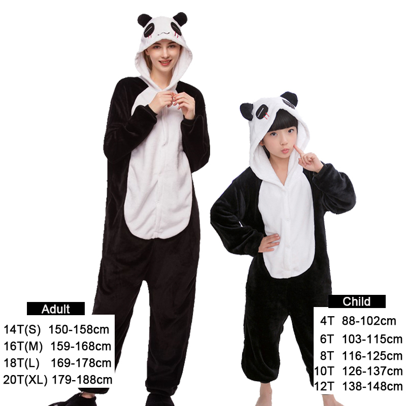 Kigurumi Onesie Kids Pijamas Unicorn Pajamas For Boys Girls Winter Animal Panda Pyjamas Women Sleepwear For Teen 4 6 8 10 Years J190520