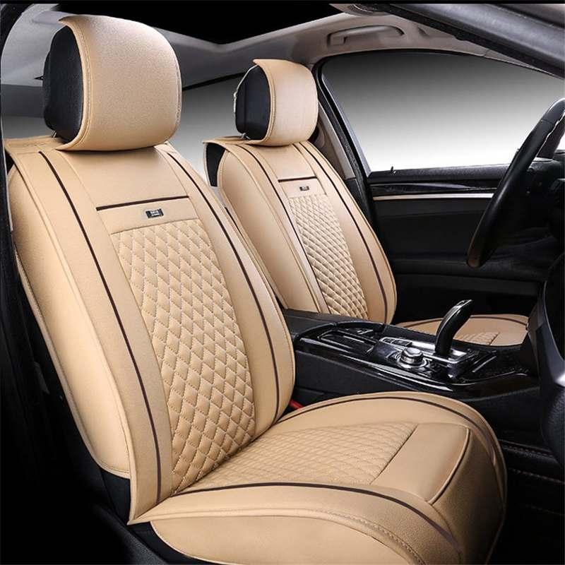 PU cuir si/èges avant voiture Couvre 2Pcs antid/érapant /étanche lavable Airbag Compatible pour la voiture plus SUV Van