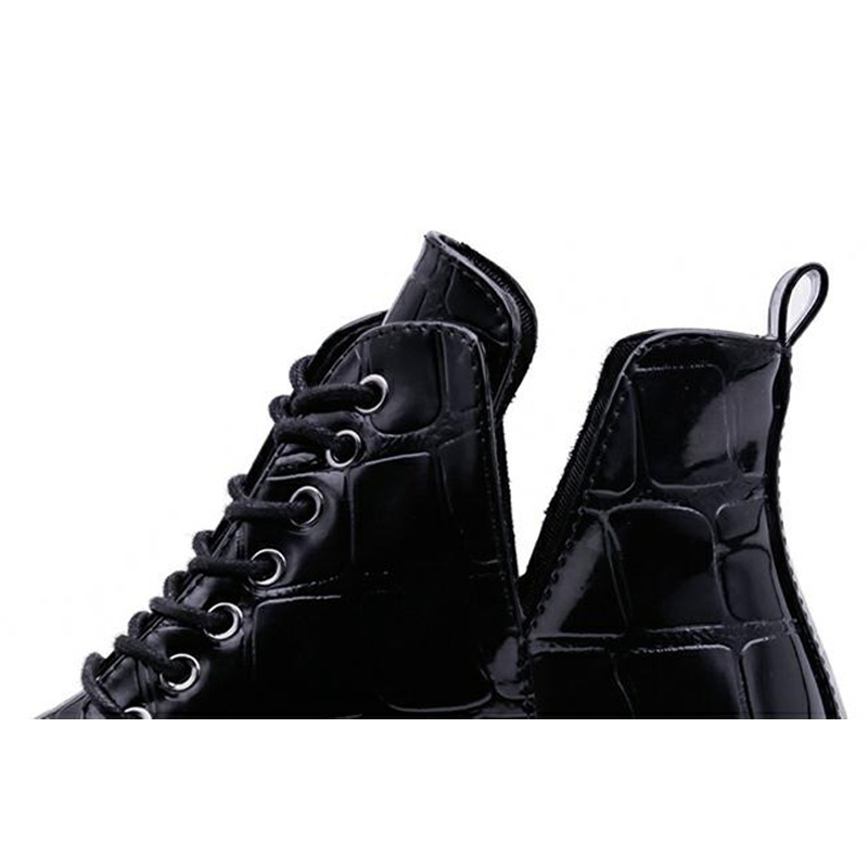 New Ankle Boots Women Shoes Woman Pointed Toe Solid Black Leather Women Boots Fashion Lace Up Winter Boots Botas Mujer EFT67