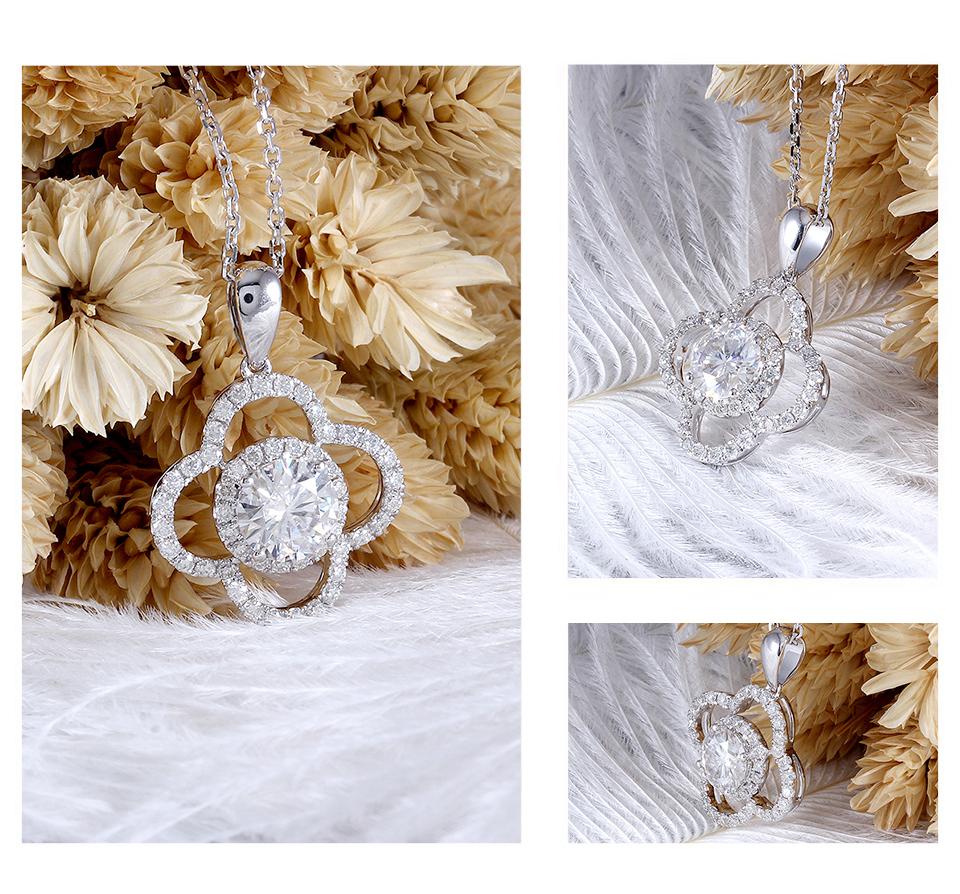 moissanite flower necklace (2)