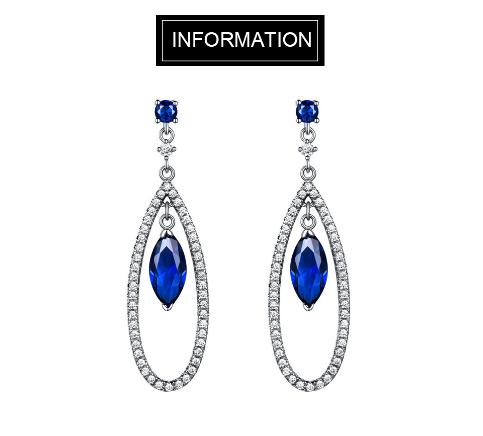 UMCHO Sapphire 925 sterling silver jewelry set for women S021S-1 (1)
