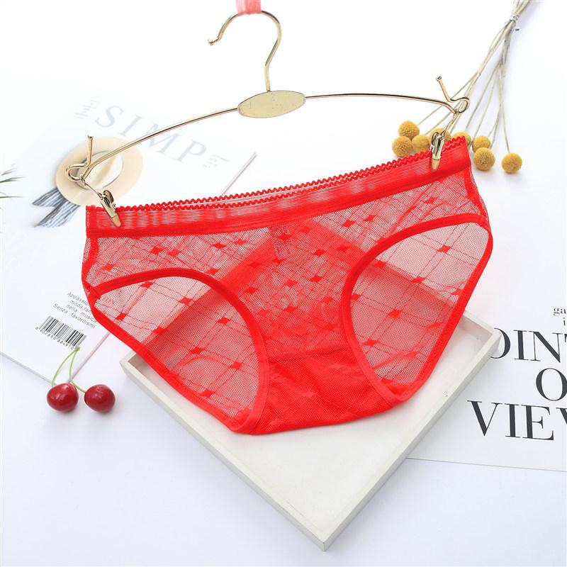 Sexy Seamless Briefs Transparent Women Underwear Panties Ultra-thin Women Briefs Lace Sexy Panty Cotton Underpants Plus Size 39 (8)