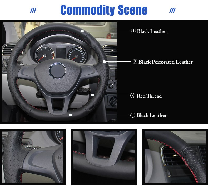 for VW Golf 7 steering wheel covers