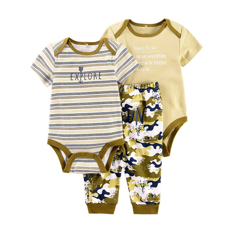 Efaster Toddler Baby Letter Print Tops+Cartoon Kitten Face Pants Outfits Set