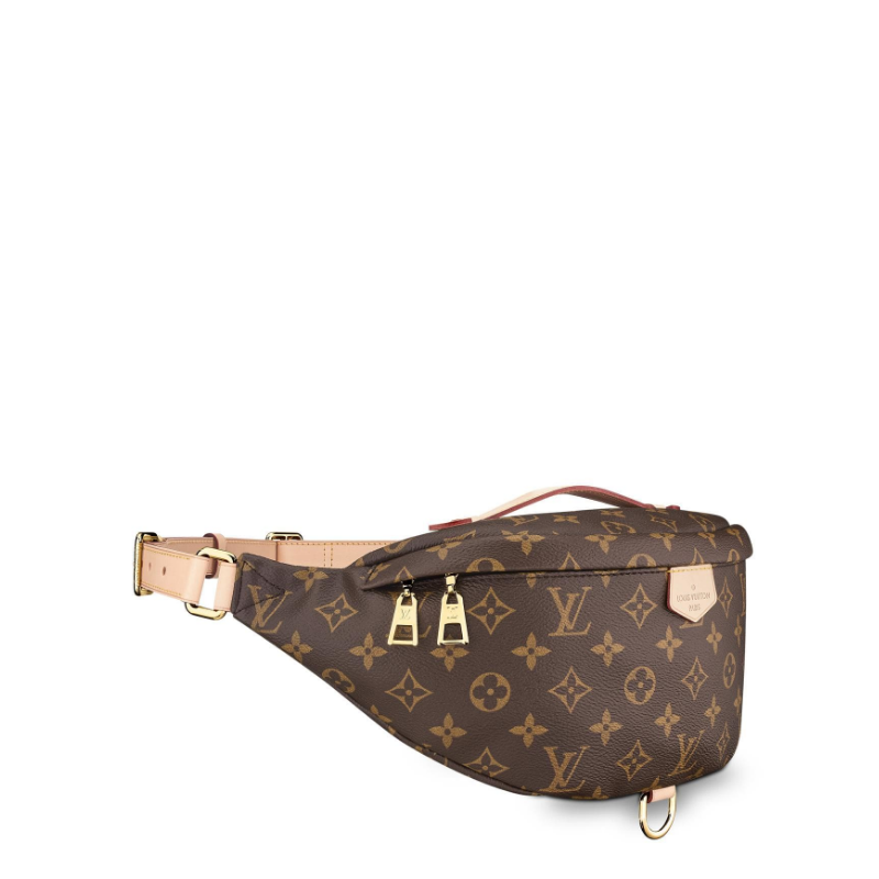 /  show BUMBAG canvas / with leather pockets M43644 neutral style, star with the same paragraph