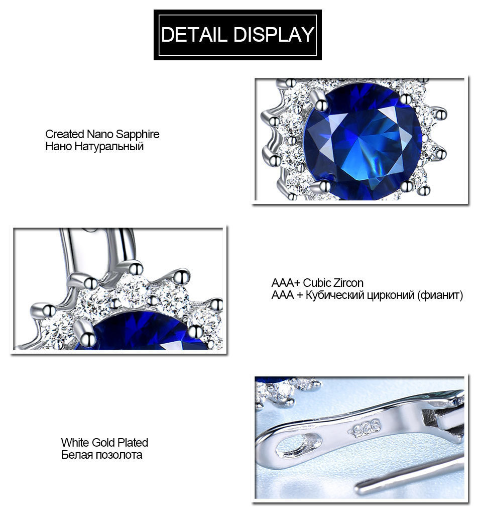 UMCHO Sapphire 925 sterling silver jewelry set for women S020S-1 (9)