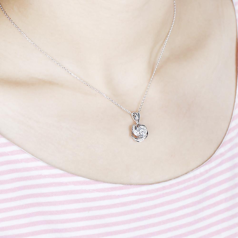 moissanite pendant silver (7)