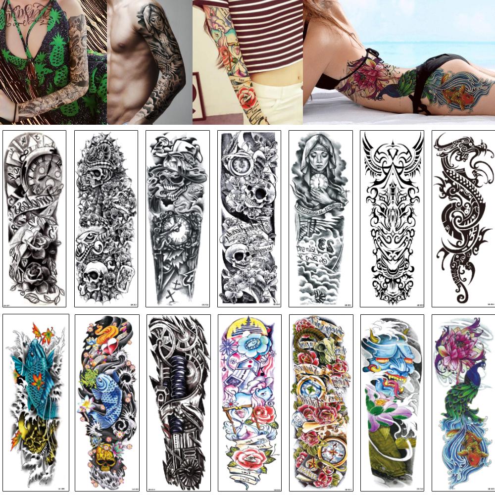Por Atacado Desenhos De Tatuagens De Manga Feminina Compre