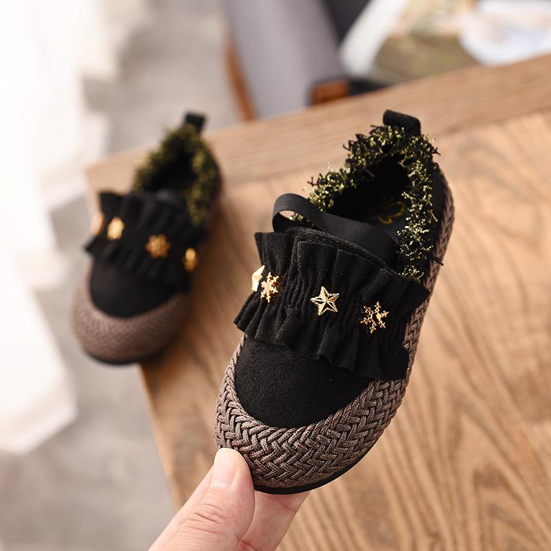 Boy Girls Loafers Child Kids Ankle Boots Peas Toddler Shoes Flat Slip On Velvet