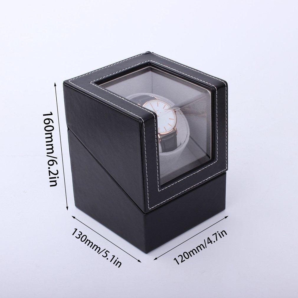 EU / US / AU / UK Plug Automatique Mécanique Remontoirs de montres De Luxe Haute Classe Moteur Shaker Watch Box Titulaire Affichage Bijoux Cas