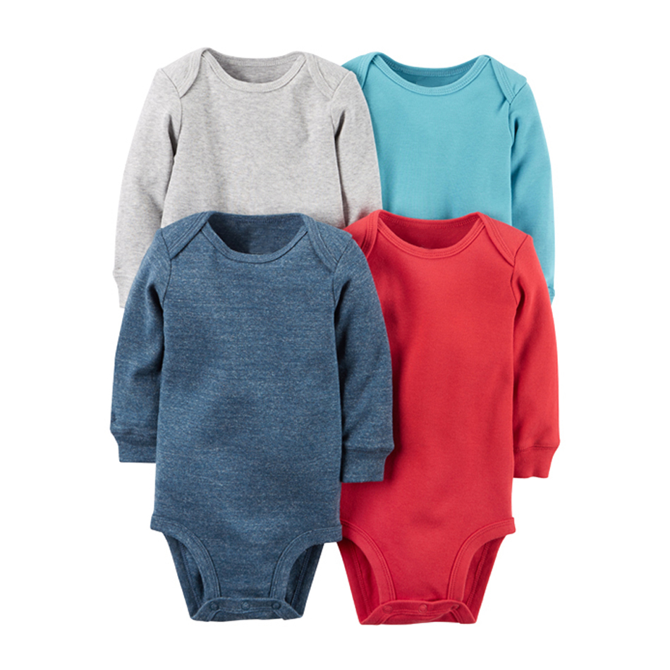 4pcs/lot Spring Autumn long Sleeve 4piece of set Original bebes kids Baby Boy Girl clothes set Newborn Bodysuit kids Clothing