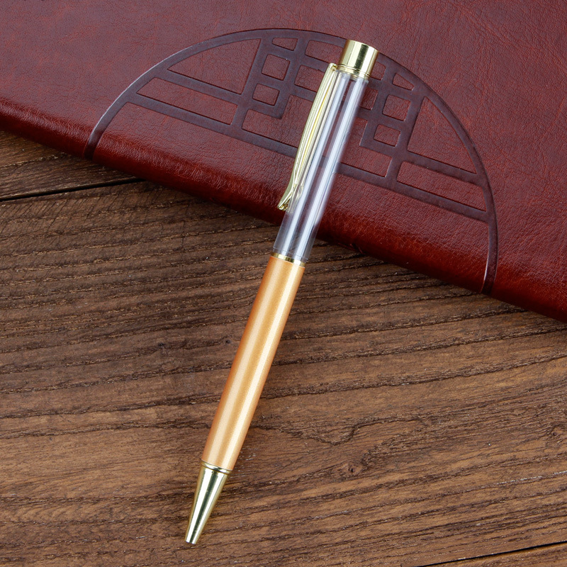 Japan Stationery Christmas Gifts Empty Floating Glitter DIY Pen Kids Dried Flower Small Shell Whelk Crystal Pen Ballpoint Pens Free DHL 527